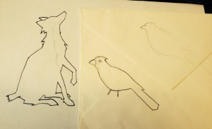Here are some of Ed's early sketches of the Fox, Finch & Tepper logo, scrawled on the back of an envelope in a burst of creativity!