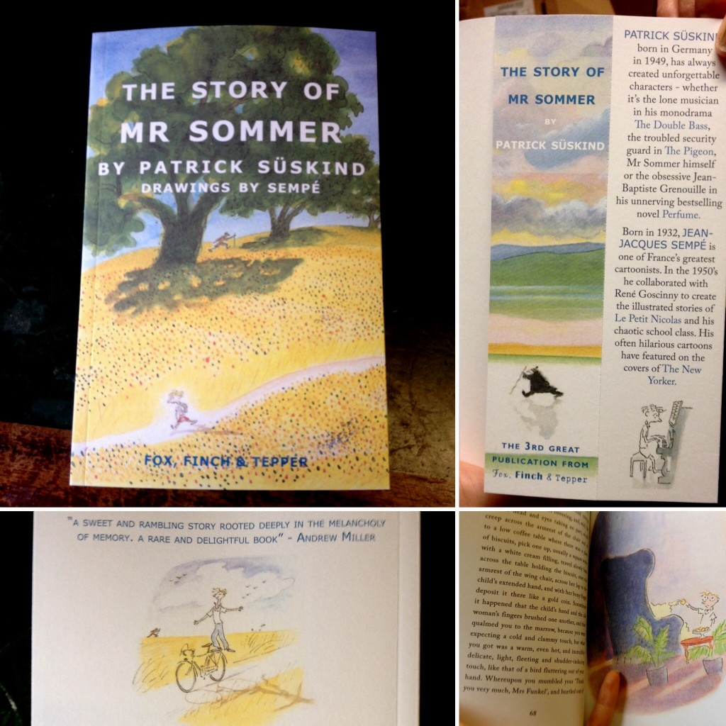 "A sneaky peek at Fox Finch & Tepper's edition of ""The Story of Mr Sommer"". Published 12/11/15."
